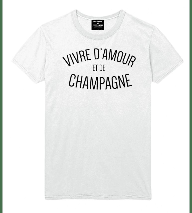 hombre Deparis vivo de y Camiseta amor champán me vN8n0wmO