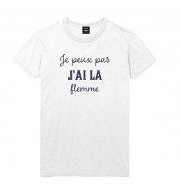 Man T-shirt JE PEUX PAS J'AI LA FLEMME