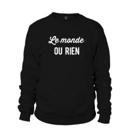 Man sweater LE MONDE OU RIEN