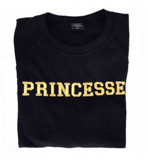 Sweat Femme Brodé Or PRINCESSE