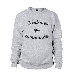 Man Sweater C'EST MOI QUI COMMANDE