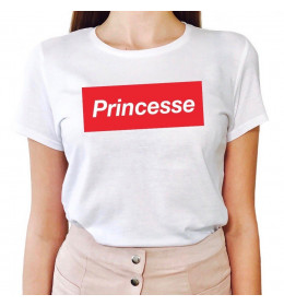 Woman T-shirt PRINCESSE Rouge