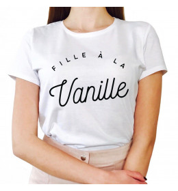 Woman T-shirt FILLE À LA VANILLE