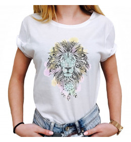 Woman T-shirt LION DREAMCATCHER