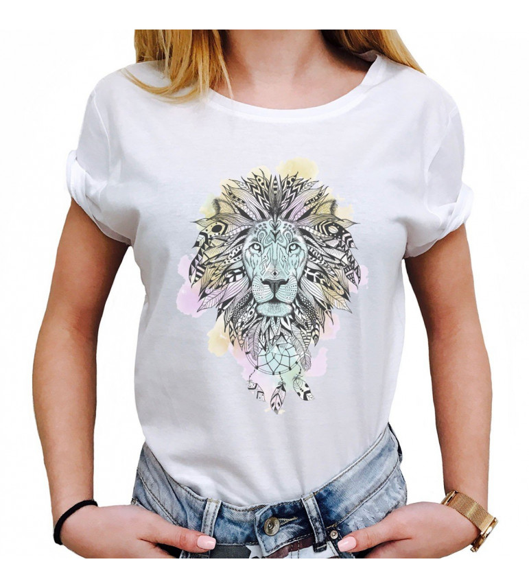 t shirt femme lion attrape r ves luxe for life de paris. Black Bedroom Furniture Sets. Home Design Ideas