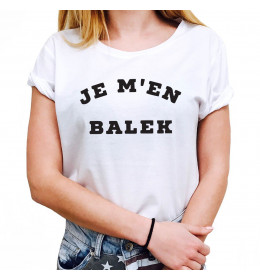 Woman T-shirt JE M'EN BALEK