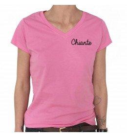 T-shirt Col V Femme CHIANTE