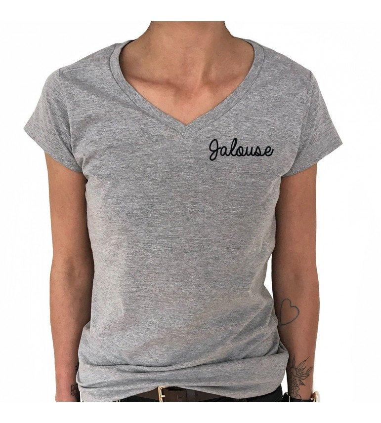 cd8a8a72360b T-shirt Col V Femme JALOUSE - LUXE FOR LIFE De Paris