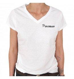 T-shirt Col V Femme PRINCESSE