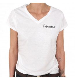 Woman V-neck T-shirt PRINCESSE