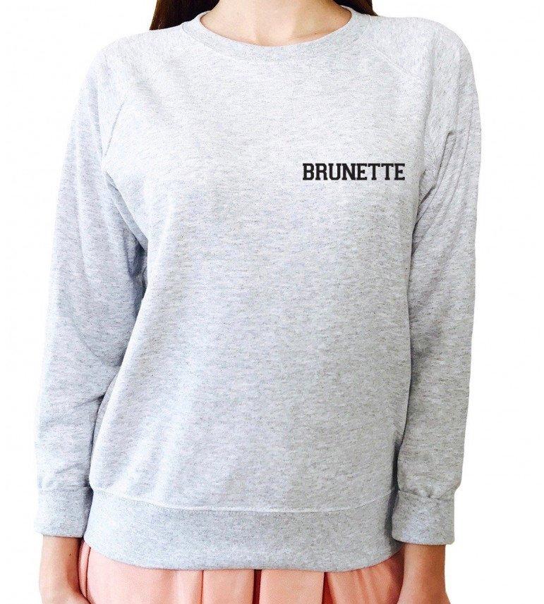 Sweat Femme Brodé BRUNETTE