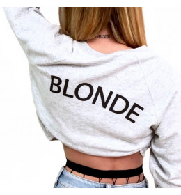 Crop Sweat Femme BLONDE