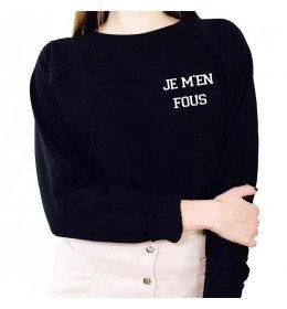 Sweat Femme Brodé JE M'EN FOUS