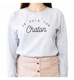 Woman Sweater JE SUIS TON CHATON