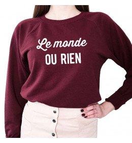 Woman sweater LE MONDE OU RIEN