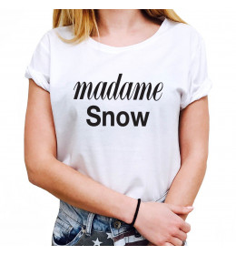Woman T-shirt MADAME SNOW