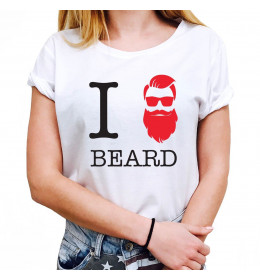 Woman T-shirt I LOVE BEARD
