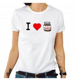 T-shirt femme I LOVE NUTELLA