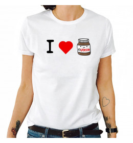 Woman T-shirt I LOVE NUTELLA