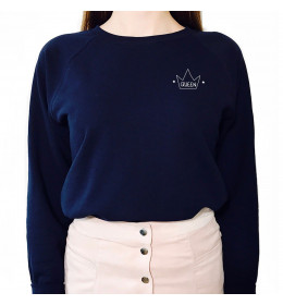 Woman embroidered sweater QUEEN