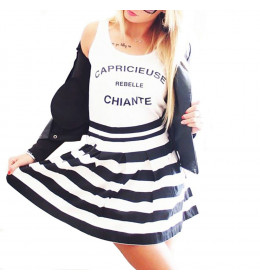 Woman top CAPRICIEUSE REBELLE CHIANTE