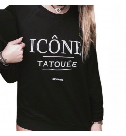 Woman sweater ICÔNE TATOUÉE