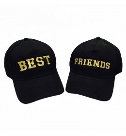 Lot de 2 Casquettes BEST FRIENDS