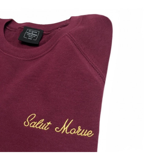 Sweat Femme Brodé SALUT MORUE
