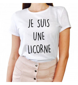 Woman T-shirt JE SUIS UNE LICORNE