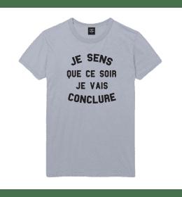Man T-shirt JE SENS QUE CE SOIR JE VAIS CONCLURE