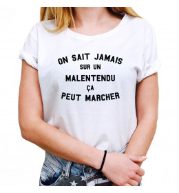 Woman T-shirt ON SAIT JAMAIS