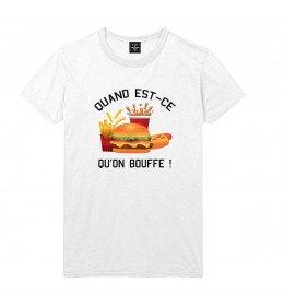 T-shirt Homme QUAND EST-CE QU'ON BOUFFE ?
