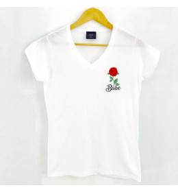 Woman V neck ROSE BABE