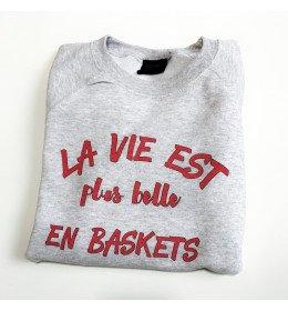 Woman Sweater LA VIE EST PLUS BELLE EN BASKETS