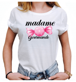 Woman T-shirt MADAME GOURMANDE