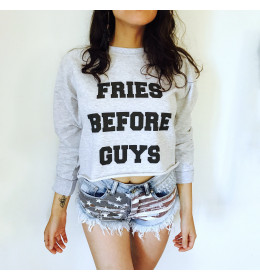 Crop Sweat FRIES BEFORE GUYS