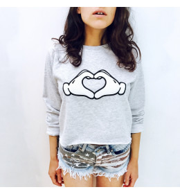 Woman Crop Sweater COEUR