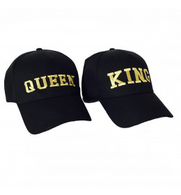 CASQUETTE BRODERIE OR QUEEN OU KING