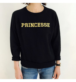 Sweat Femme Brodé Or PRINCESSE