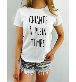 Woman T-shirt CHIANTE A PLEIN TEMPS