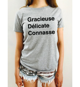 T-SHIRT FEMME GRACIEUSE DELICATE CONNASSE