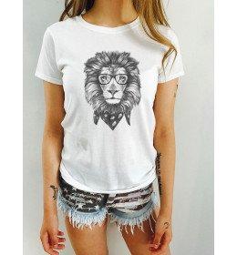 T-shirt femme LION FACE