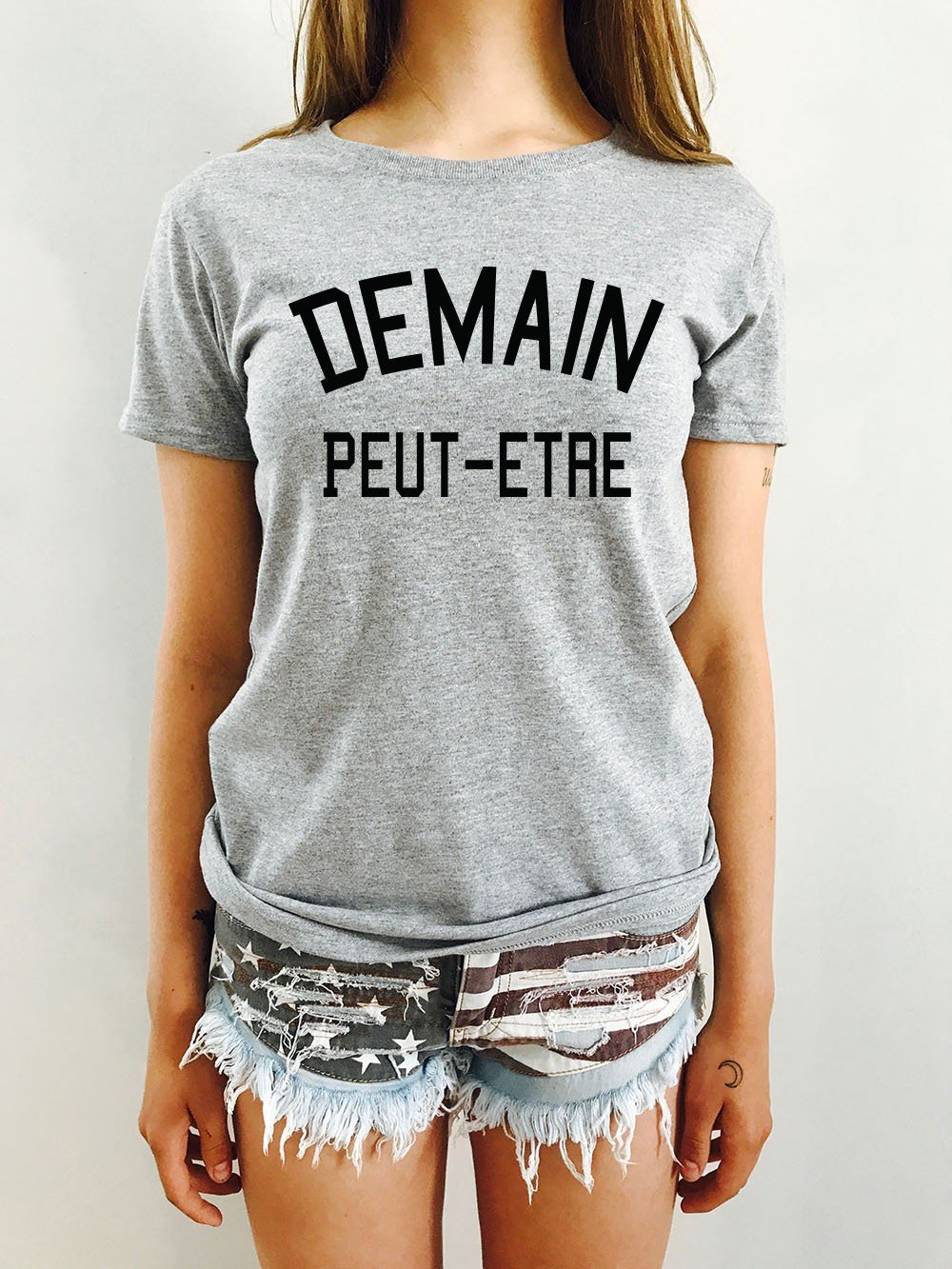 96a2c046d6f Woman T-shirt DEMAIN PEUT ÊTRE - LUXE FOR LIFE De Paris