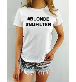 WOMAN TSHIRT BLONDE NO FILTER