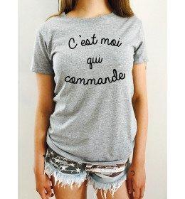 Woman T-shirt C'EST MOI QUI COMMANDE