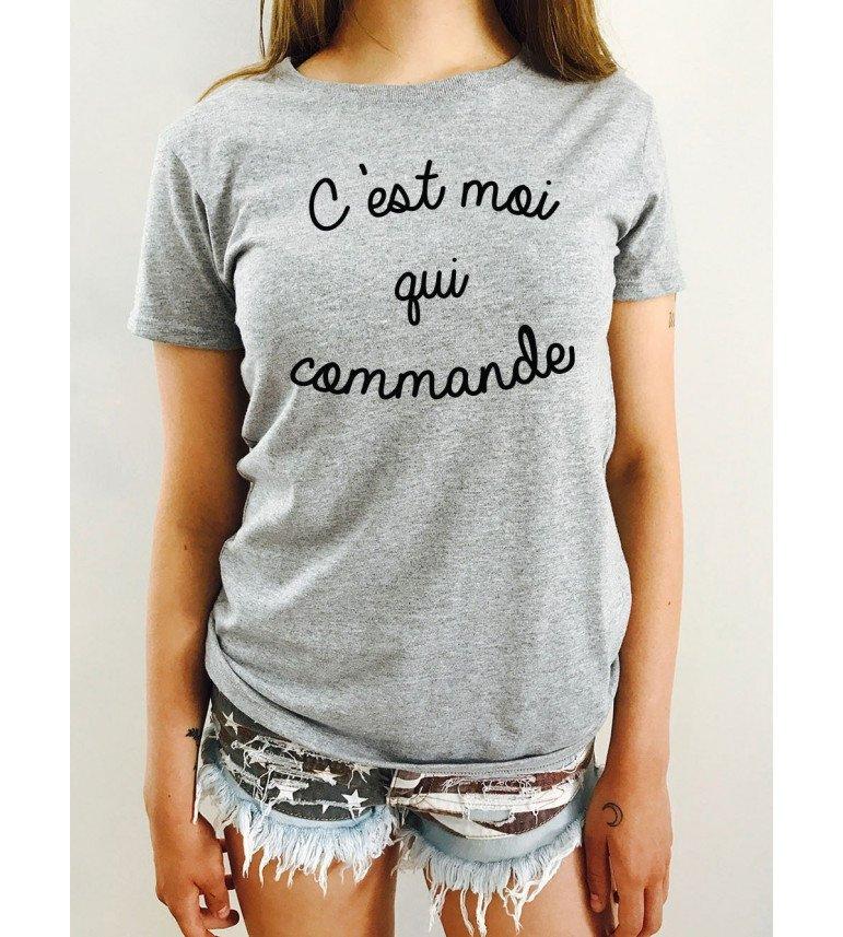 T-shirt Femme C'EST MOI QUI COMMANDE
