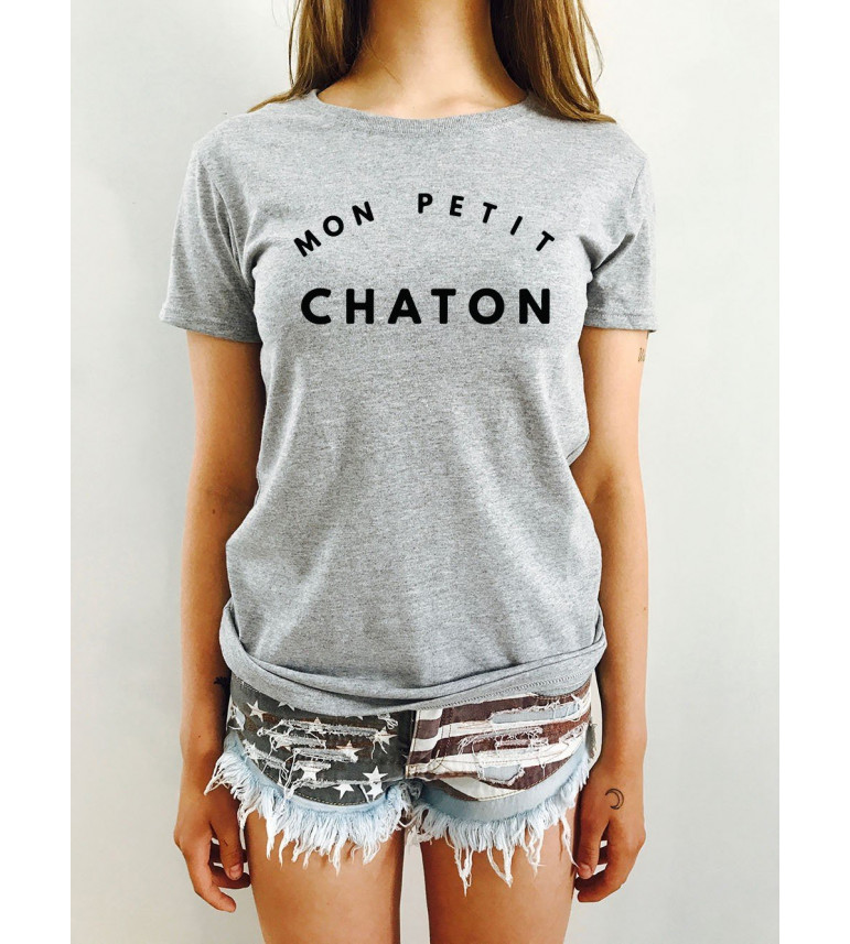 T-shirt Femme MON PETIT CHATON