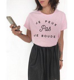 Women t-shirt JE PEUX PAS JE BOUDE