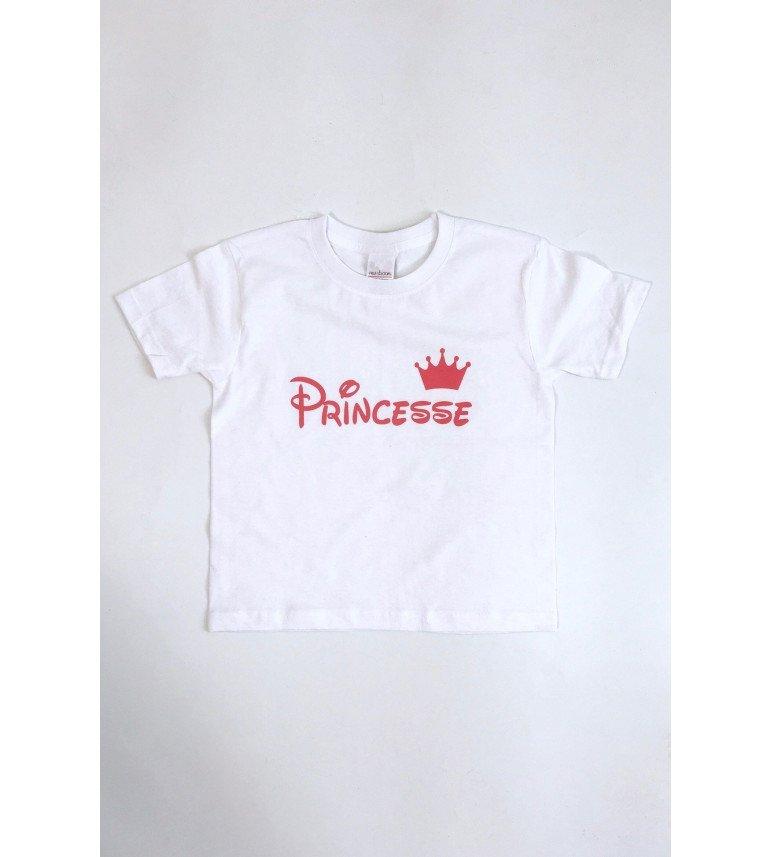 T-SHIRT ENFANT PRINCESSE COURONNE ROSE