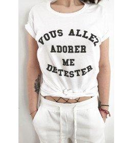 WOMAN T-SHIRT VOUS ALLEZ ADORER ME DETESTER